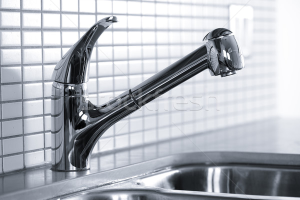 Kitchen faucet Stock photo © elenaphoto