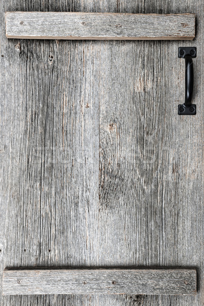 Old barn wood door Stock photo © elenaphoto