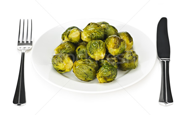 Plate of brussels sprouts Stock photo © elenaphoto