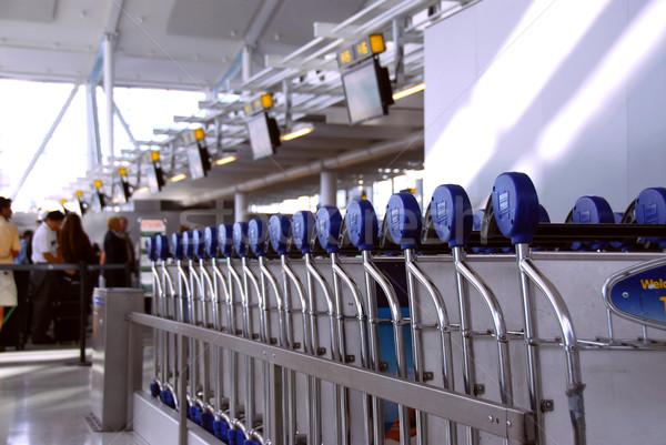 Passengers carts airport Stock photo © elenaphoto