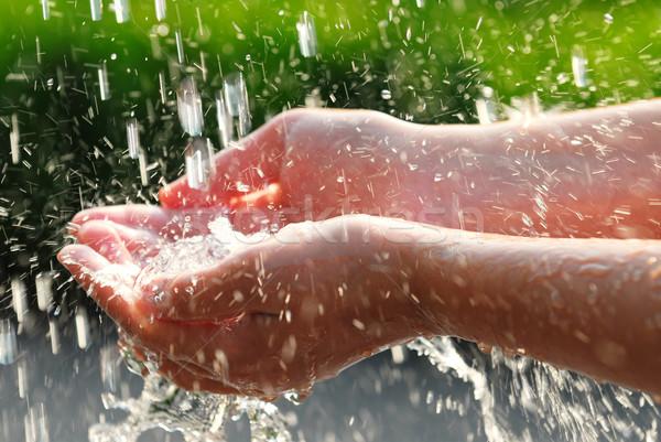 Hands and water Stock photo © elenaphoto