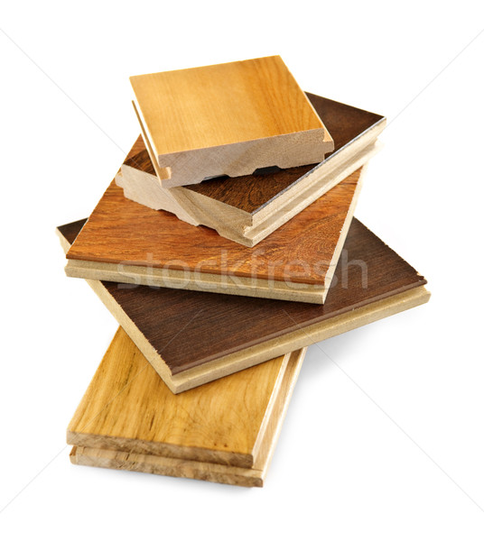 Piso de madeira isolado madeira de lei Foto stock © elenaphoto