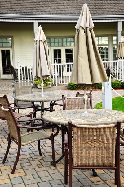 патио стульев домой металл Сток-фото © elenaphoto