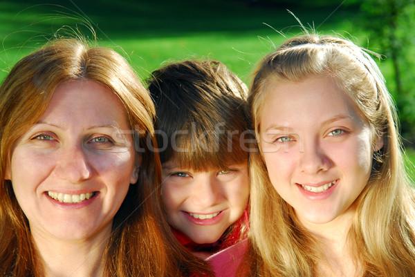 Семейный портрет портрет счастливая семья матери детей семьи Сток-фото © elenaphoto