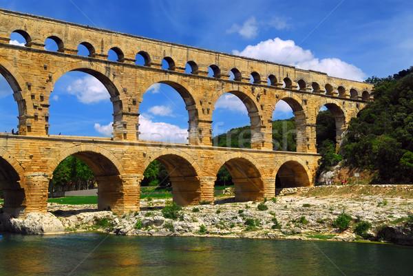 França romano água verão viajar Foto stock © elenaphoto