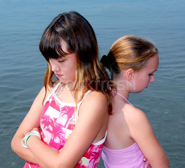 Two girls pouting Stock photo © elenaphoto