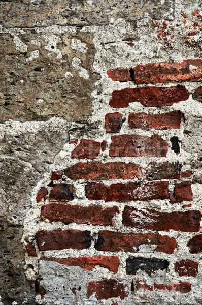 Grunge brick background wall Stock photo © elenaphoto