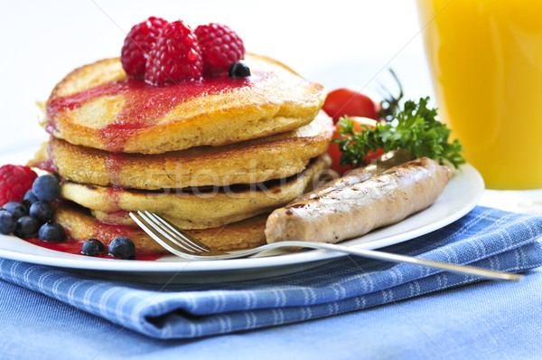 Pancakes breakfast Stock photo © elenaphoto