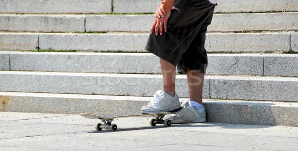 Skateboarder Stock photo © elenaphoto