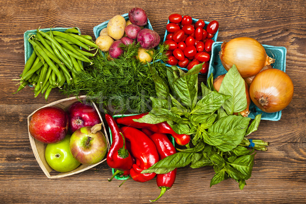 Market fruits and vegetables Stock photo © elenaphoto