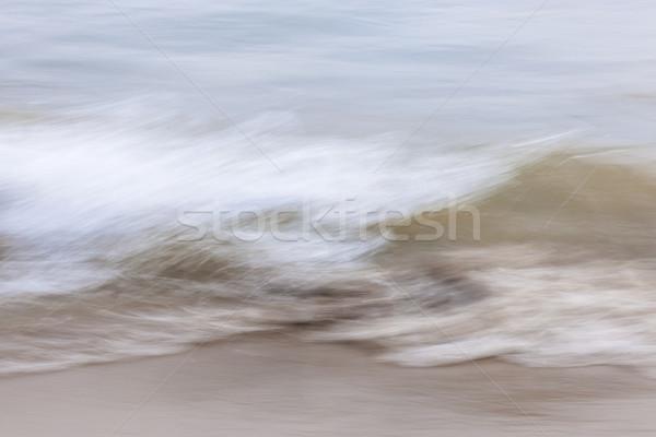 Foto stock: água · areia · abstrato · oceano · ondas · praia