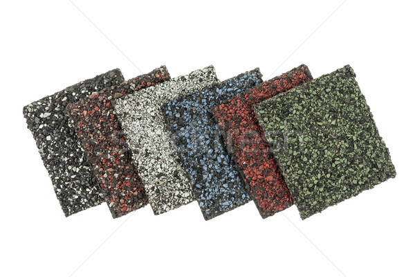 Asphalt shingles samples Stock photo © elenaphoto
