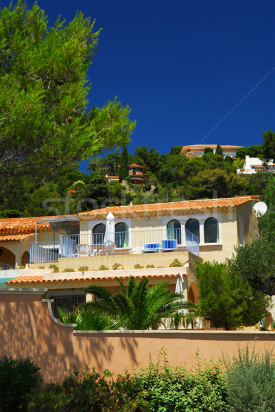 Gardens and villas on French Riviera Stock photo © elenaphoto
