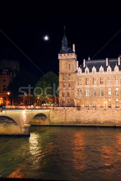 Nighttime Paris Stock photo © elenaphoto
