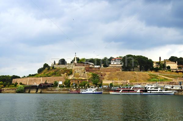 Forteresse Belgrade danube rivière vert Voyage Photo stock © elenaphoto