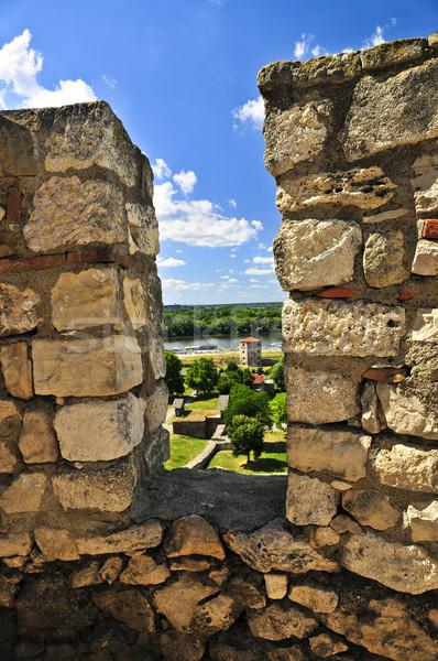 Forteresse Belgrade murs Serbie vert Photo stock © elenaphoto