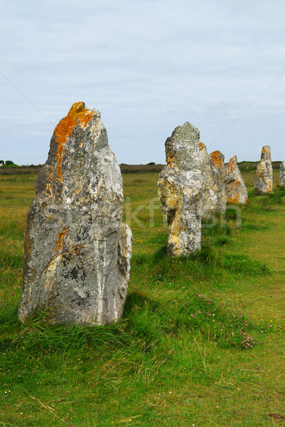 Megalithic monuments in Brittany Stock photo © elenaphoto