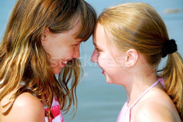 Two girlfriends Stock photo © elenaphoto