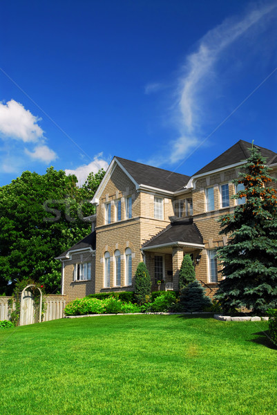 Residential home Stock photo © elenaphoto