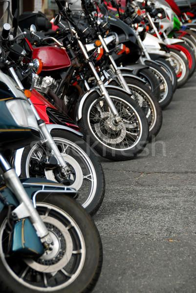 Row of motobikes Stock photo © elenaphoto