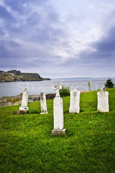 Zdjęcia stock: Wybrzeża · nowa · fundlandia · cmentarz · brzegu · Kanada · niebo
