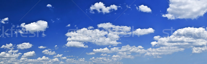 Panoramic blue sky with white clouds Stock photo © elenaphoto