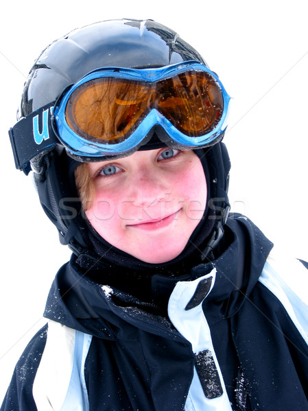 Girl ski smile Stock photo © elenaphoto