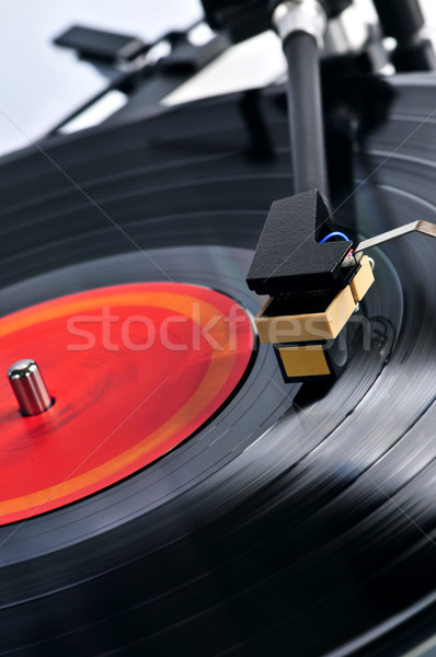 Record Turntable vinyle musique table Photo stock © elenaphoto