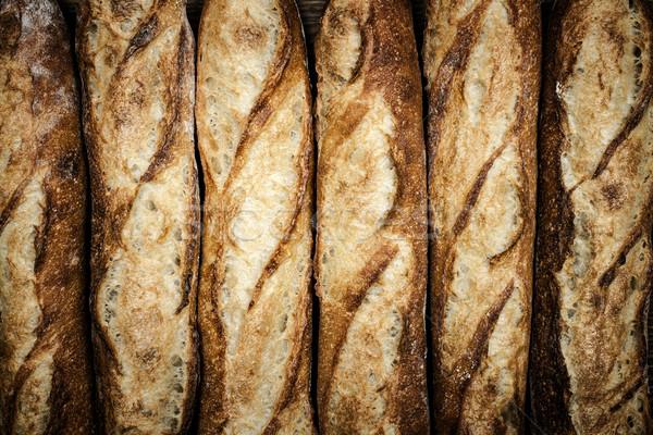 багеты свежие багет хлеб продовольствие фон Сток-фото © elenaphoto