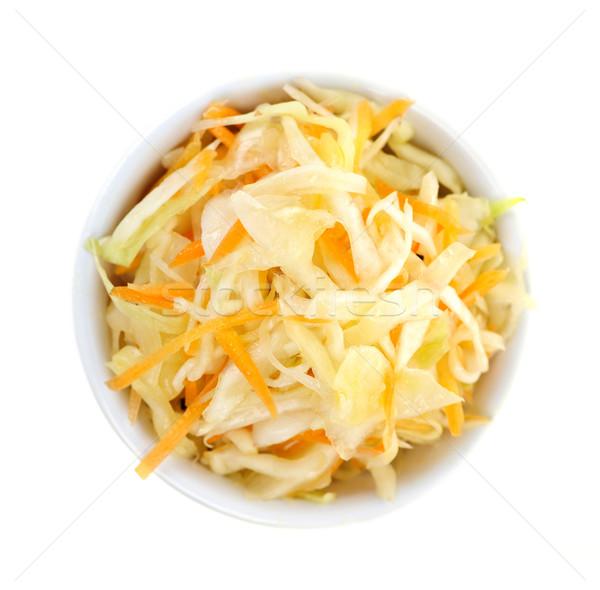 чаши капустный салат белый продовольствие фон Сток-фото © elenaphoto
