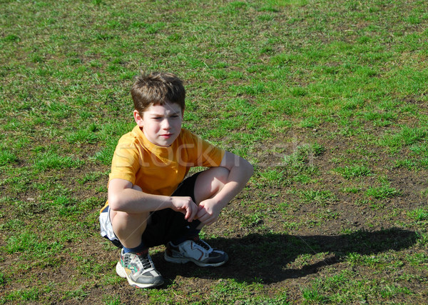 Little boy upset Stock photo © elenaphoto