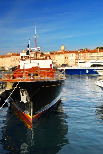 Boats at St.Tropez Stock photo © elenaphoto