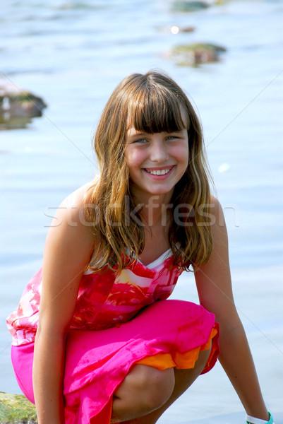 Happy girl portrait Stock photo © elenaphoto