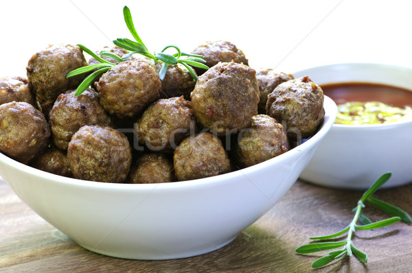 Meatballs and sauce Stock photo © elenaphoto