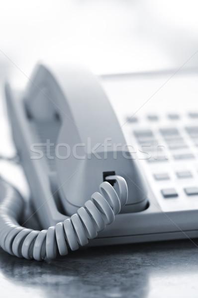 Desk telephone Stock photo © elenaphoto