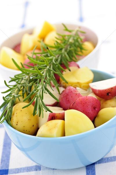 Raw cut small potatoes Stock photo © elenaphoto