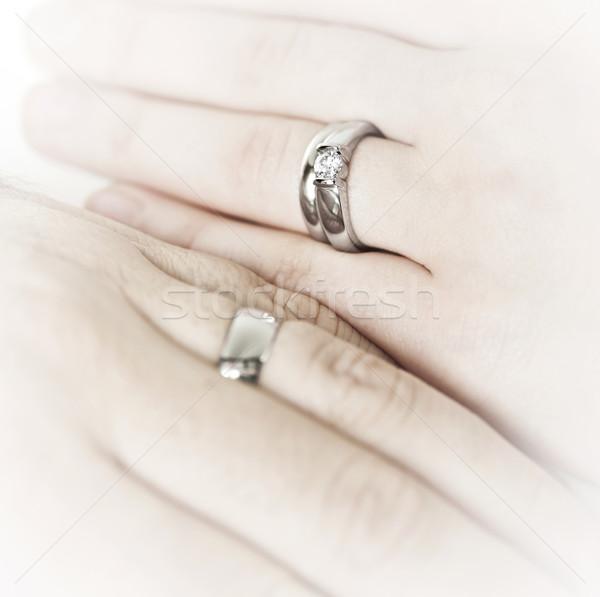 Mains alliances mariage Photo stock © elenaphoto