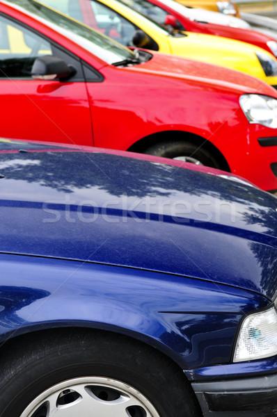 Row of parked cars Stock photo © elenaphoto