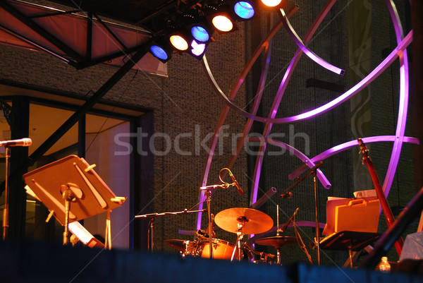 Outdoor fase muziek jazz festival Montreal Stockfoto © elenaphoto