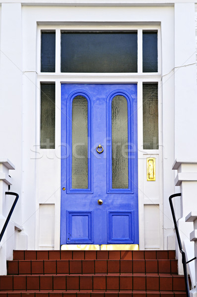 Blue door in London Stock photo © elenaphoto