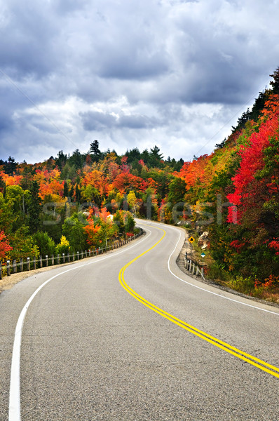 Cair rodovia cênico norte Canadá Foto stock © elenaphoto