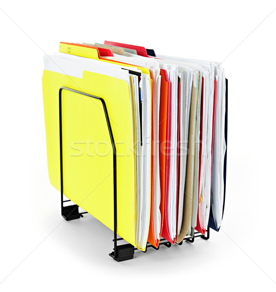 Akta mappák papírok iratok függőleges szervező Stock fotó © elenaphoto
