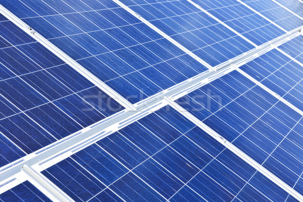 Stockfoto: Zonnepanelen · alternatief · energie · fotovoltaïsche · Blauw