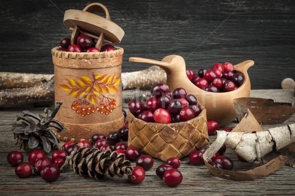 Cranberries still life Stock photo © elenaphoto