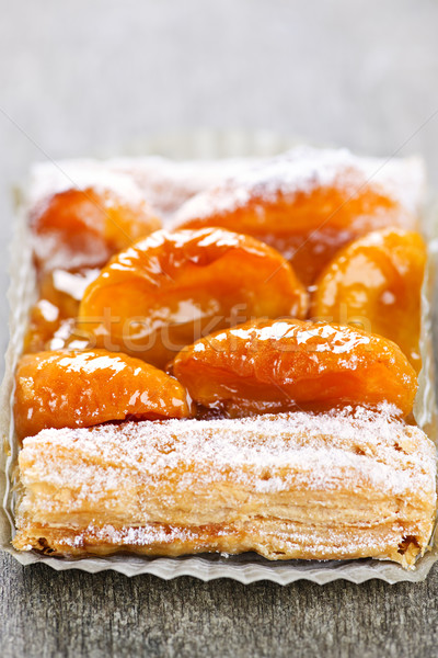 Apricot fruit strudel Stock photo © elenaphoto