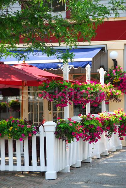 Restaurant patio Stock photo © elenaphoto