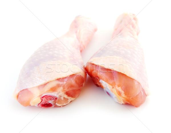 Raw chicken drumsticks Stock photo © elenaphoto