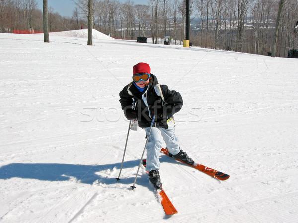 Girl child ski Stock photo © elenaphoto