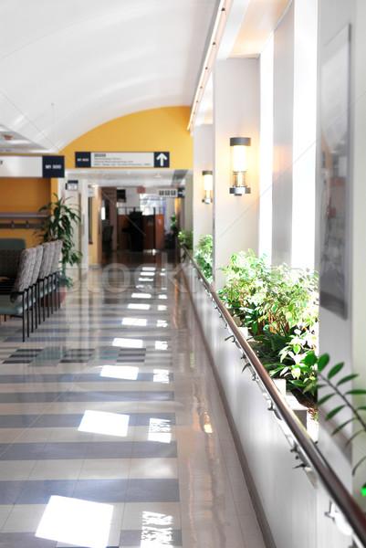 Ziekenhuis gang leidend receptie arts gezondheid Stockfoto © elenaphoto