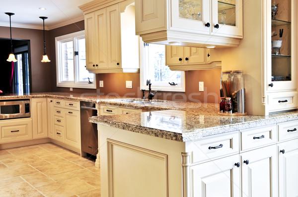 Stockfoto: Keuken · interieur · interieur · moderne · luxe · keuken · graniet